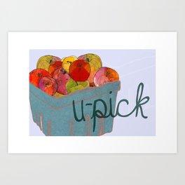 U-Pick Apples Art Print