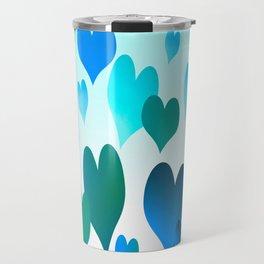 Hearts get Lighter (blue) Travel Mug