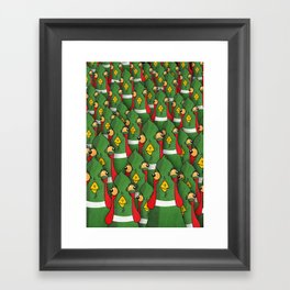 PHEASANTS - Birds | Funny | Comics | Rush | Stupid | Vector | Texture | LOL | Animals  Framed Art Print