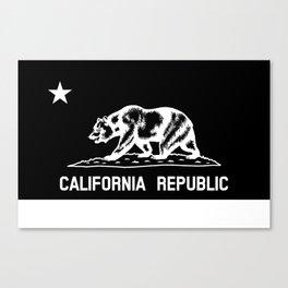 The Bear Flag - Black and White Canvas Print