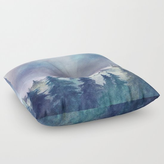 Into The Forest Floor Pillow
