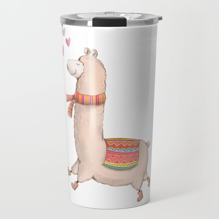 Happy Chubby Llama Travel Mug