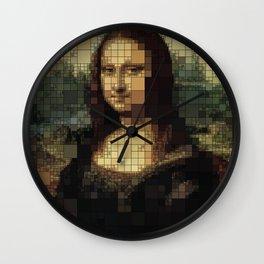 Mona Lisa on tiles Wall Clock