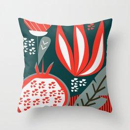 Pomegranate - contemporary Throw Pillow