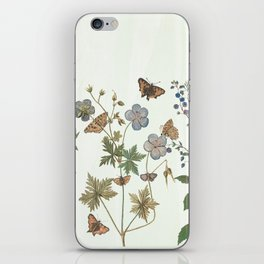 The fragility of living - botanical illustration iPhone Skin