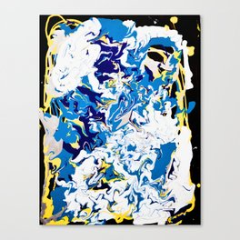abstraction dripping water Canvas Print