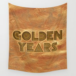 Golden Years – Gold Wall Tapestry