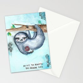 Rule Breaking Sloth Stationery Cards