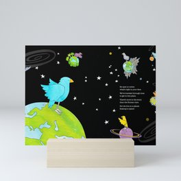 """Floating In Space (from the book, """"You, the Magician"""") Mini Art Print"""