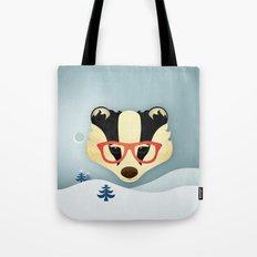 Winter Badger Tote Bag