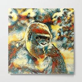 AnimalArt_Gorilla_20180201_by_JAMColorsSpecial Metal Print