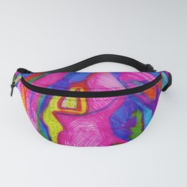 Abstract Map Fanny Pack