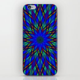 Stained glass flower mandala iPhone Skin