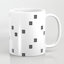 Back and White Geometric 8 Coffee Mug