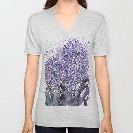 Sumie No.13 hyacinth Unisex V-Neck