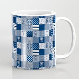 Jungle Friends Shades of Blue Cheater Quilt Coffee Mug