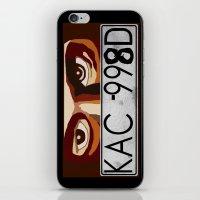 van iPhone & iPod Skins featuring Van Damn Van by Arts and Herbs