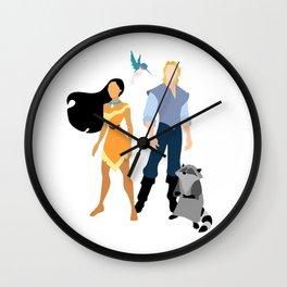 Pocahontas and John Wall Clock