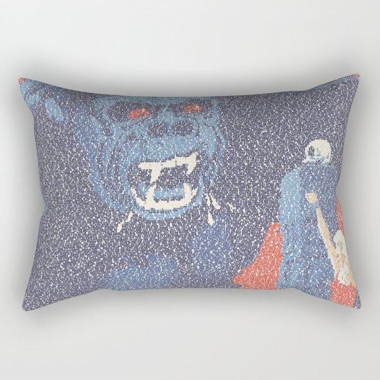 King Kong Script Print Rectangular Pillow