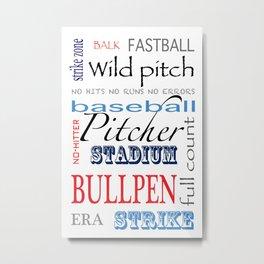 Baseball Pitcher Metal Print