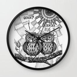 OWL TALK Wall Clock