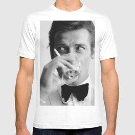 Roger Moore, James Bon-d - Classic Art Print Paper Poster or Rolled Cotton Canvas Photo T-shirt