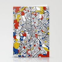rome Stationery Cards featuring Rome by Mondrian Maps