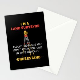 Land Survey GPS Land Surveyors Gifts Stationery Cards
