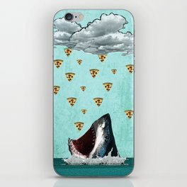 Pizza Shark Print iPhone Skin