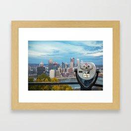 View Of Pittsburgh, Pennsylvania Framed Art Print
