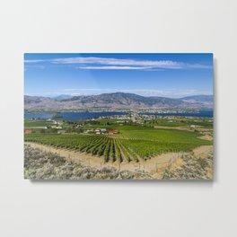 Osoyoos Lake Okanagan Valley British Columbia Canada Vineyard Landscape Metal Print
