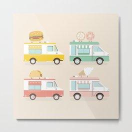 Food Trucks Metal Print