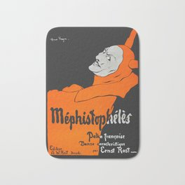 Mephistopheles Polka Francoise - 1890 Vintage Poster Reproduction for Wall Art, Prints, Posters, Tshirts, Men, Women, Youth Bath Mat