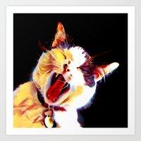 Artsy Cat three Art Print