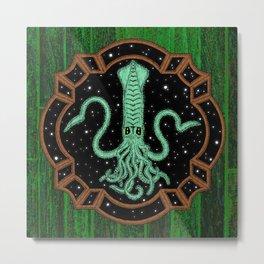 Squids in Space! Metal Print