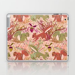 Squirrel in Woodland Fern Forest , Cute Squirrels Love hidden among the Acorn Nuts & Plants Laptop & iPad Skin