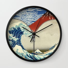 Mt. Fuji and the Wave Wall Clock