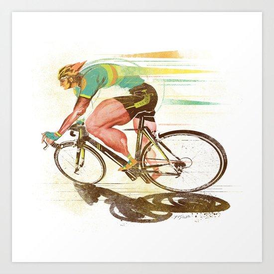 The Sprinter, Cycling Edition Art Print