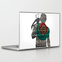 daryl dixon Laptop & iPad Skins featuring Daryl Dixon with Quotes by rlc82