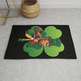 American Football Leprechaun - Lucky Irish Rug