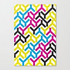 CMYK Geometry Pattern Canvas Print