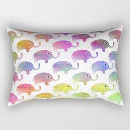 Parade Of Elephants Rectangular Pillow