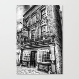 Prospect of  Whitby Pub London 1520 Canvas Print