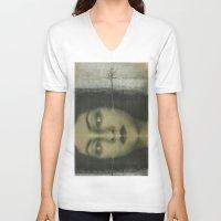 lolita V-neck T-shirts featuring Lolita by Nikoletta Bati