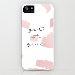 Get it Girl // Rose Gold Brush Strokes iPhone Case