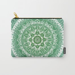 Green Mandala Pattern Carry-All Pouch