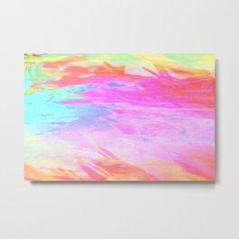 pastel acid splash Metal Print
