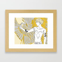 golden boy Framed Art Print