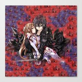 kirito and asuna velvet  backgroun Canvas Print