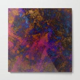 Day Dreaming - Abstract, metallic, textured, paint splatter style artwork Metal Print